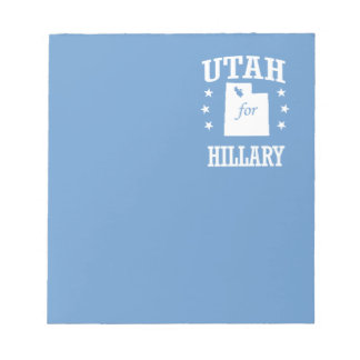 UTAH FOR HILLARY MEMO NOTEPAD