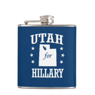 UTAH FOR HILLARY HIP FLASK