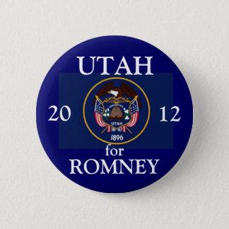 Utah for Romney 2012 6 Cm Round Badge
