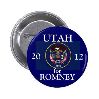 Utah for Romney 2012 Buttons