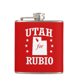 UTAH FOR RUBIO HIP FLASKS