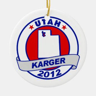 Utah Fred Karger Christmas Ornament