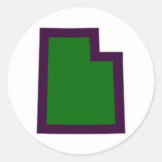 Utah (G&P) Classic Round Sticker