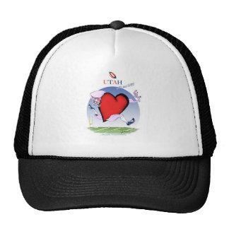 utah head heart, tony fernandes cap