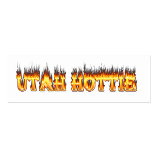 Utah hottie fire and flames business card template