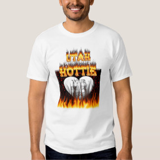 Utah Hottie fire and red marble heart. T-shirt