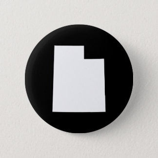 Utah in White 6 Cm Round Badge