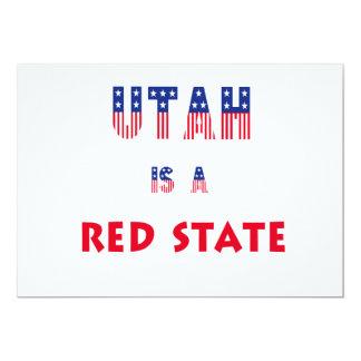 Utah is a Red State Custom Invitation