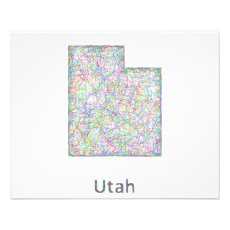Utah map 11.5 cm x 14 cm flyer