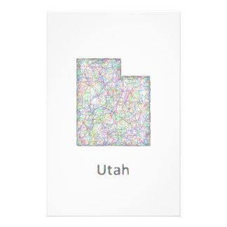 Utah map 14 cm x 21.5 cm flyer