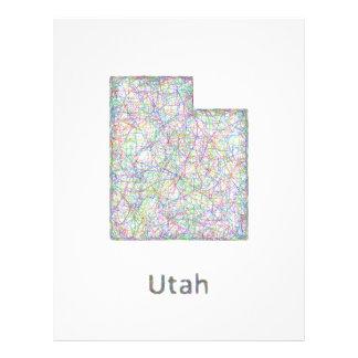 Utah map 21.5 cm x 28 cm flyer