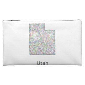 Utah map cosmetic bags