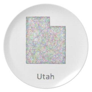 Utah map plate