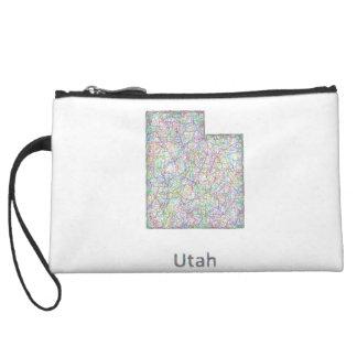 Utah map wristlet purse