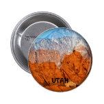 Utah Mountains Pinback Buttons