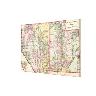 Utah, Nevada 2 Stretched Canvas Print
