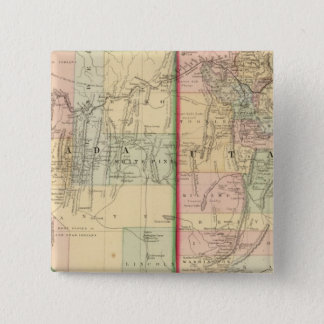 Utah, Nevada Map by Mitchell 15 Cm Square Badge