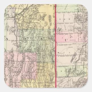Utah, Nevada Square Sticker