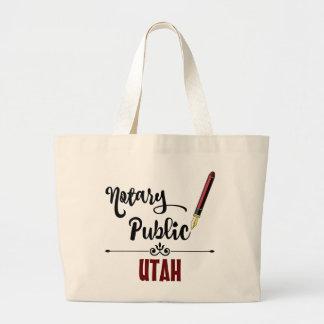 Utah Notary Public Ink Pen Jumbo Tote Bag