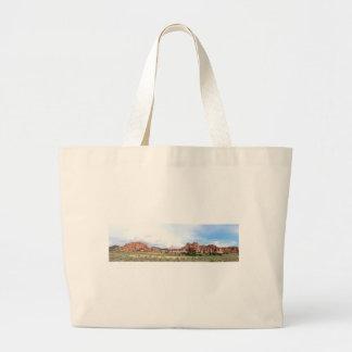 Utah panoramic landscape tote bag