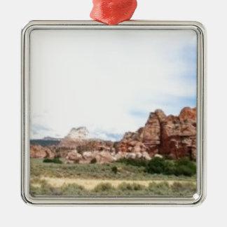 Utah panoramic landscape christmas ornament