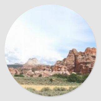 Utah panoramic landscape classic round sticker