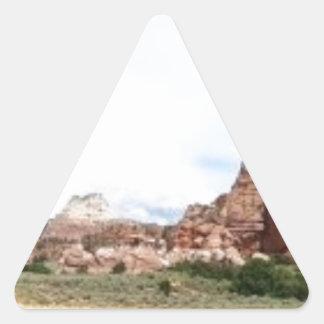 Utah panoramic landscape triangle sticker