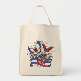Utah Patriotism Butterfly Canvas Bag