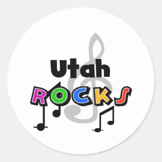 Utah Rocks Classic Round Sticker