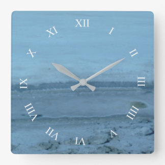 Utah Salt Flats Detailed Square Wall Clock