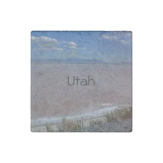 Utah Salt Flats Stone Magnet
