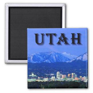 Utah, Salt Lake City Square Magnet