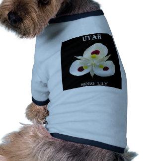 Utah Sego Lily Ringer Dog Shirt