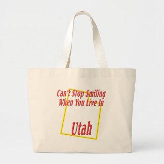 Utah - Smiling Jumbo Tote Bag