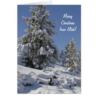 Utah Snow Christmas Card