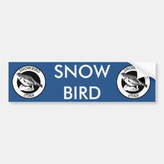 Utah Snowbird Shield Bumper Sticker