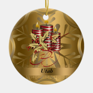 Utah State Christmas Ornament