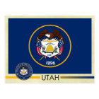 Utah State Flag and Seal Postcard