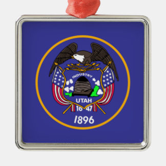 Utah State Flag Christmas Ornament
