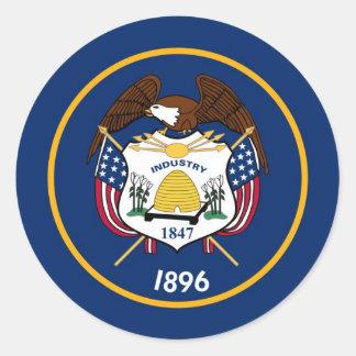 Utah State Flag Classic Round Sticker