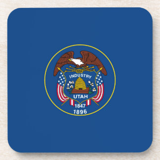 Utah State Flag Design Decor Coasters