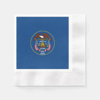 Utah State Flag Design Disposable Serviettes