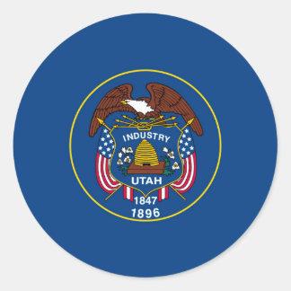 Utah State Flag Design Round Sticker