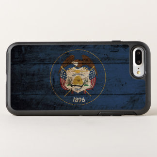 Utah State Flag on Old Wood Grain OtterBox Symmetry iPhone 7 Plus Case