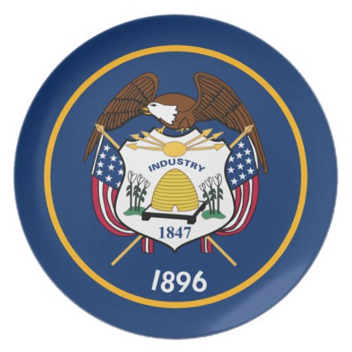 Utah State Flag Party Plates