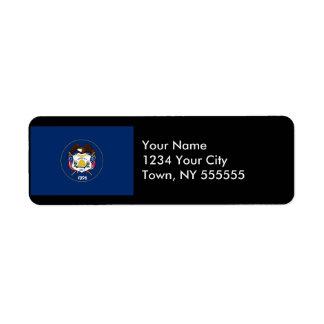 Utah State Flag Return Address Label