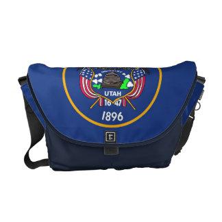 Utah State Flag Rickshaw Messenger Bag