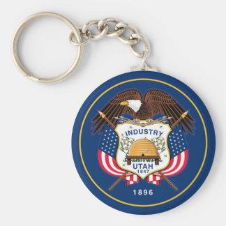 utah state flag united america republic symbol key ring