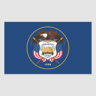 utah state flag united america republic symbol rectangular sticker