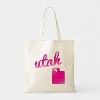 Utah state in pink tote bag